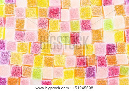 Mixed Colorful Candies Close Up. Colorful candy background.