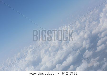 beautiful diagonal tubers clouds and blue sky