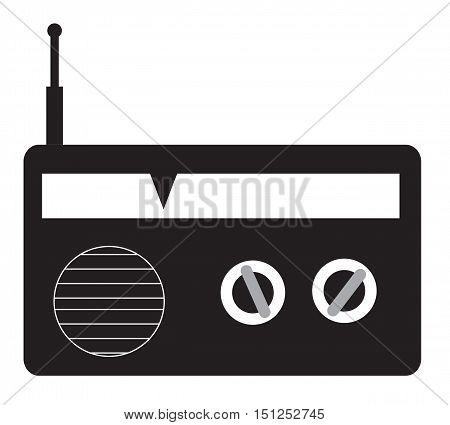 radio icon on white background. radio retro