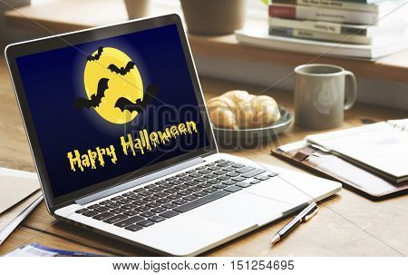 Halloween Trick Treat Spooky Creepy Pumpkin Concept