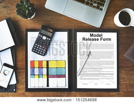 Model Release Form Application Concept