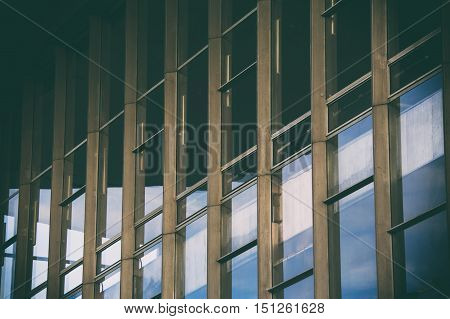 metal structure glass structure gray background still