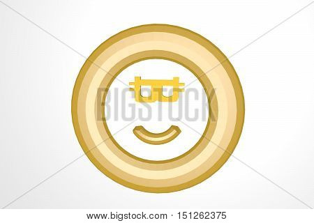 The smile from bitcoin . 3D rendering
