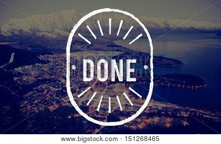Done Achievement Finish Goal Ready Graphic Concept