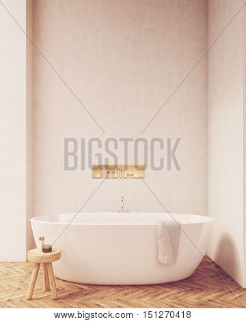 Front View Of Bathtub