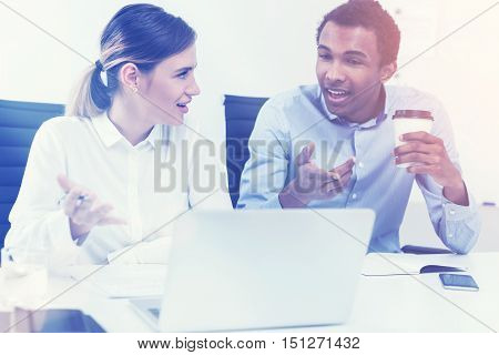 Man, Woman And Laptop, Toned