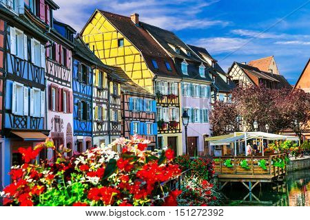 Most beautiful villages (town) of France  - Colmar in Alsace