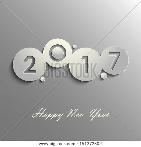 Abstract grey New Years wishes design template vector eps 10