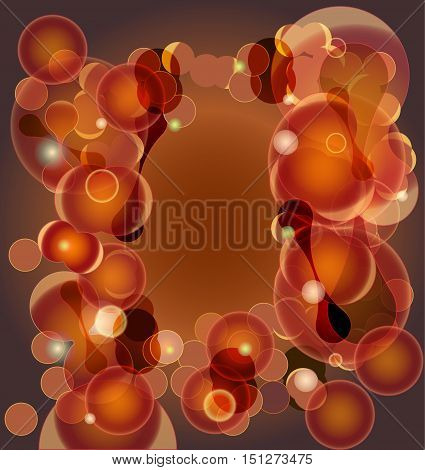 Background of organic tissue with multiplying cells. Brown, orange and pink abstract background resembling cells