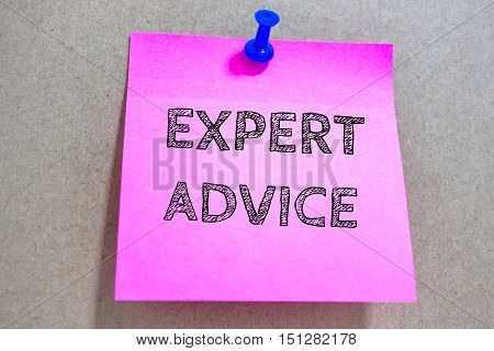 Text EXPERT ADVICE on paper / business concept