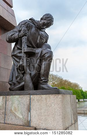 Berlin, Germany - April 2, 2008: The Monument To Soviet Soldiers In Treptow Park