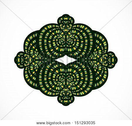 Decorative abstract green element. Illustration 10 version