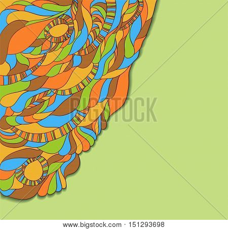 Abstract colorful decorative background. Illustration 10 version