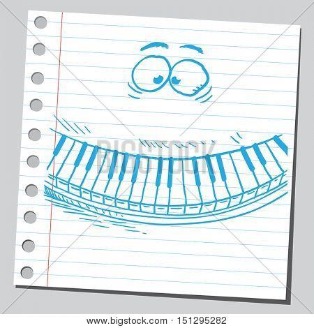 Funny cartoon piano keys