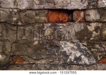 Old brick wall background, brick texture, brickwork, old wall, old plastered wall, brick