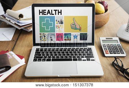 Health Laptop Healthcare Wellness Senior Concept