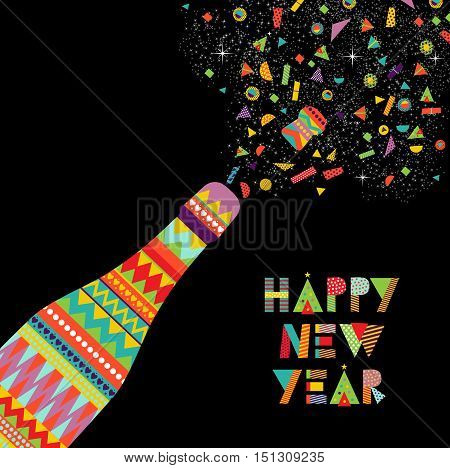 Happy New Year Fun Design Of Party Celebration