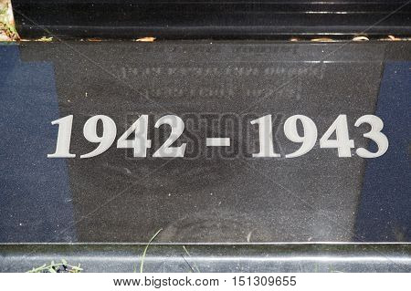 The Plate With An Inscription 1942-1943