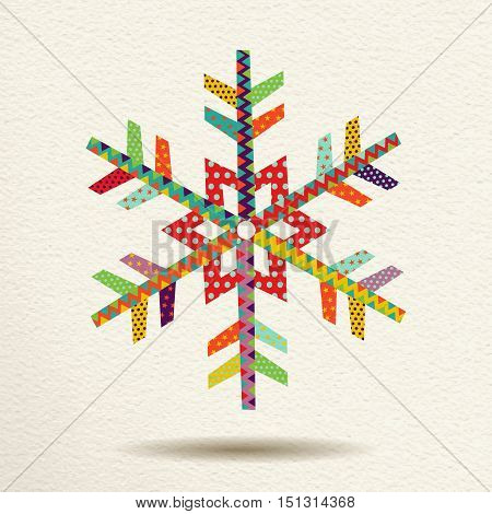 Christmas Snow In Colorful Geometric Art Style
