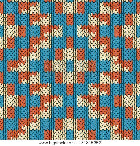 Knitting Ornate Seamless Geometric Color Pattern