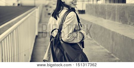 Women Casual Jeans Girl Freedom Simplicity Concept