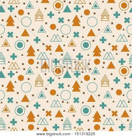 Ethnic geometric seamless pattern. Tribal background. Vector illustration