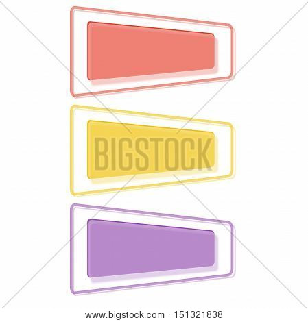 Web banner design. Vivid translucent plastic cards with shadows. Nice set of transparent geometric vector banners. Abstract transparent banners set. Vector illustration.