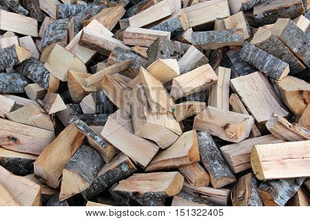 picture of a hard and soft mix choping wood
