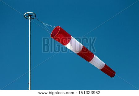 Windsock on a beautiful day of breeze