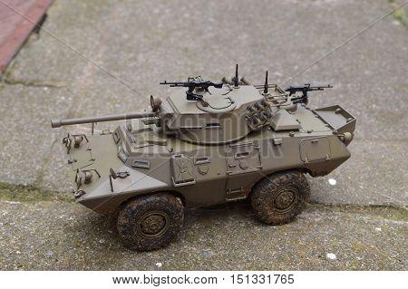 Scale model of a LAV-150 APC 90mm gun