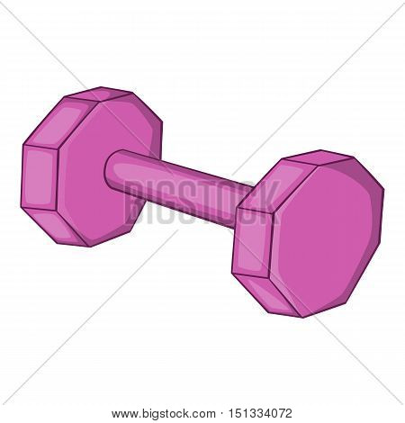 Dumbbell icon. Cartoon illustration of dumbbell vector icon for web