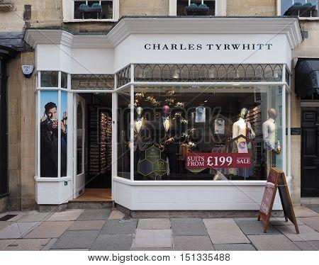 Charles Tyrwhitt Storefront In Bath