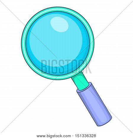 Magnifying glass icon. Cartoon illustration of magnifying glass vector icon for web