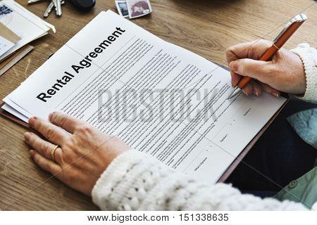 Rental Agreement Assets Concept