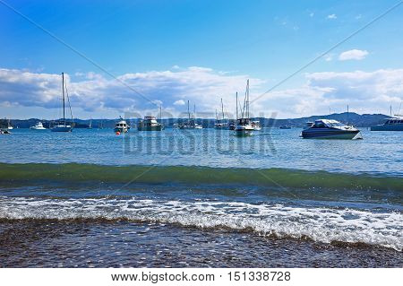 Beach Of Russell And Bay Of Islands, New Zealand