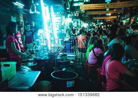 BANGKOK, THAILAND 2013 September 29, street food, Chinatown , Bangkok Thailand