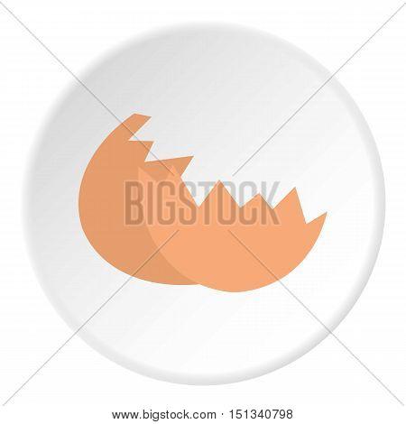 Eggshell icon. Flat illustration of eggshell vector icon for web design