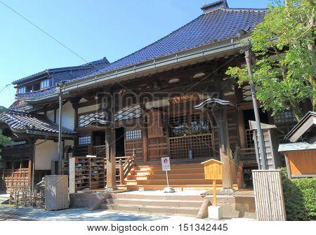 Ninjya dera temple in Kanazawa Japan. Ninja dera temple Myoryuji has many deceptive defence structure and secret rooms built in 1585.
