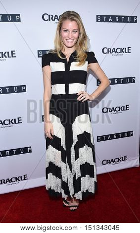 LOS ANGELES - SEP 23:  Ashley Hinshaw arrives to the Crackle's Original Series