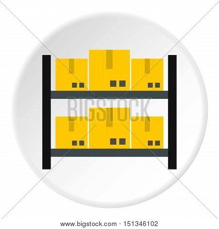 Storage of goods icon. Flat illustration of storage of goods vector icon for web