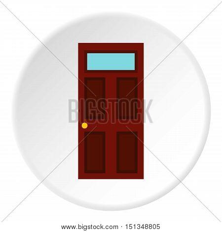 Steel door icon. Flat illustration of steel door vector icon for web