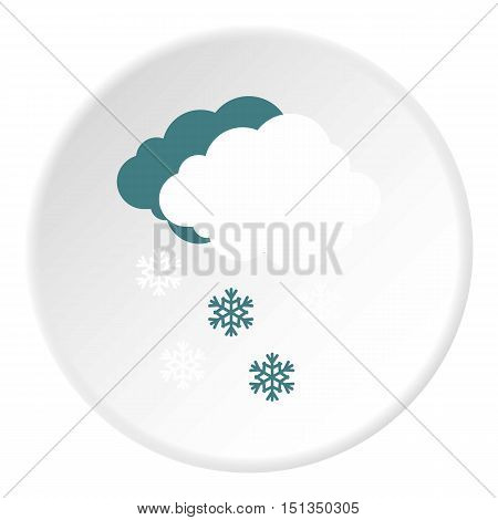 Cloud and snow icon. Flat illustration of cloud and snow vector icon for web