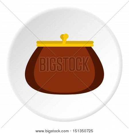 Purse icon. Flat illustration of purse vector icon for web