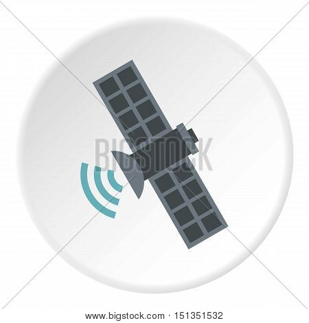 Satellite icon. Flat illustration of satellite vector icon for web