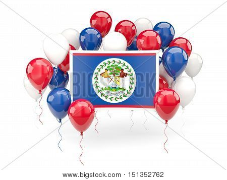 Flag Of Belize With Balloons