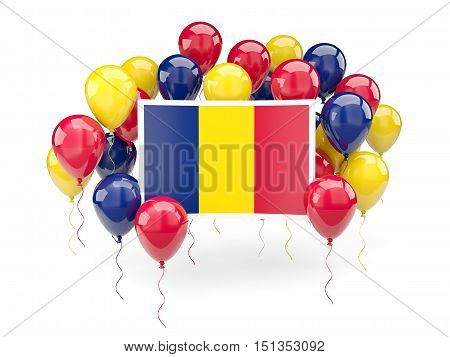 Flag Of Chad With Balloons