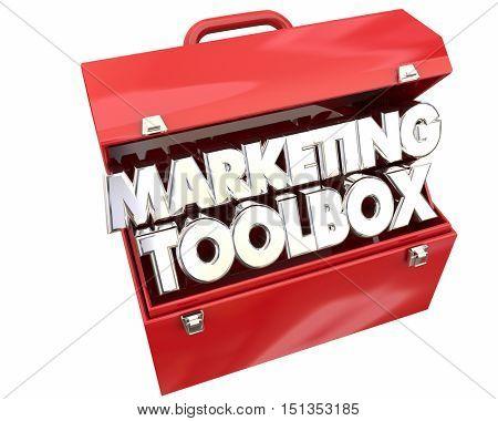 Marketing Toolbox Resources Information Tips Tricks 3d Illustration