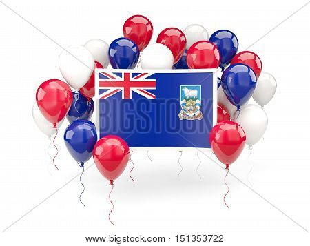 Flag Of Falkland Islands With Balloons