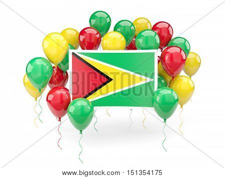 Flag Of Guyana With Balloons