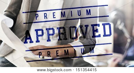 Business Approved Assurance Exclusive Concept